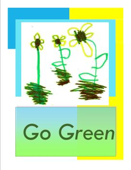 """Go Green Garden Flag"""